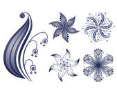 Vector collection of design flowers