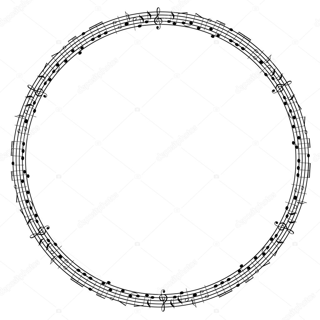 Round graphical frame