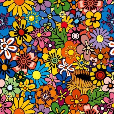 "Картина, постер, плакат, фотообои ""Повторяющийся цветочный фон"", артикул 8863207"
