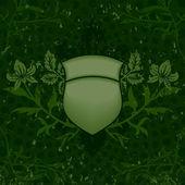 zelené grunge štít