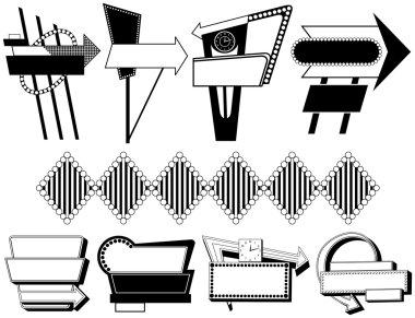 Nine Retro Advertising Signs