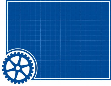 Cog and Blueprint Background