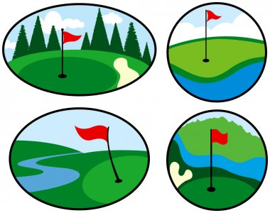 Colorful Golf Icons