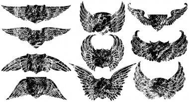 Grunge Winged Shields