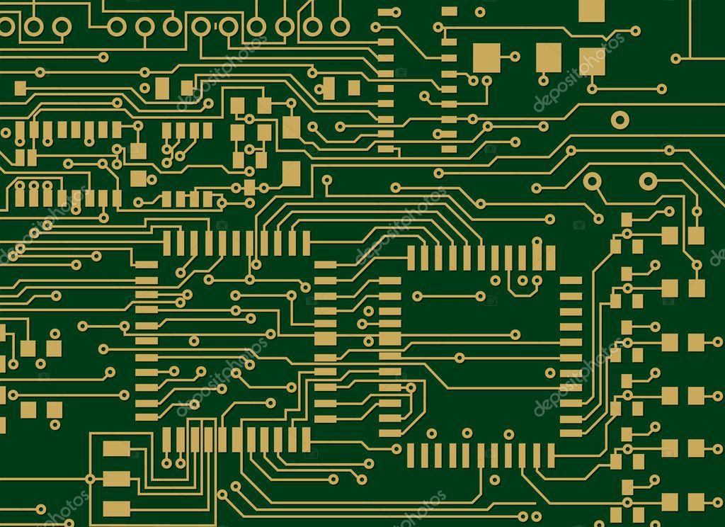 Motherboard Circuit Illustration: Stock Vector © Adroach #8995824