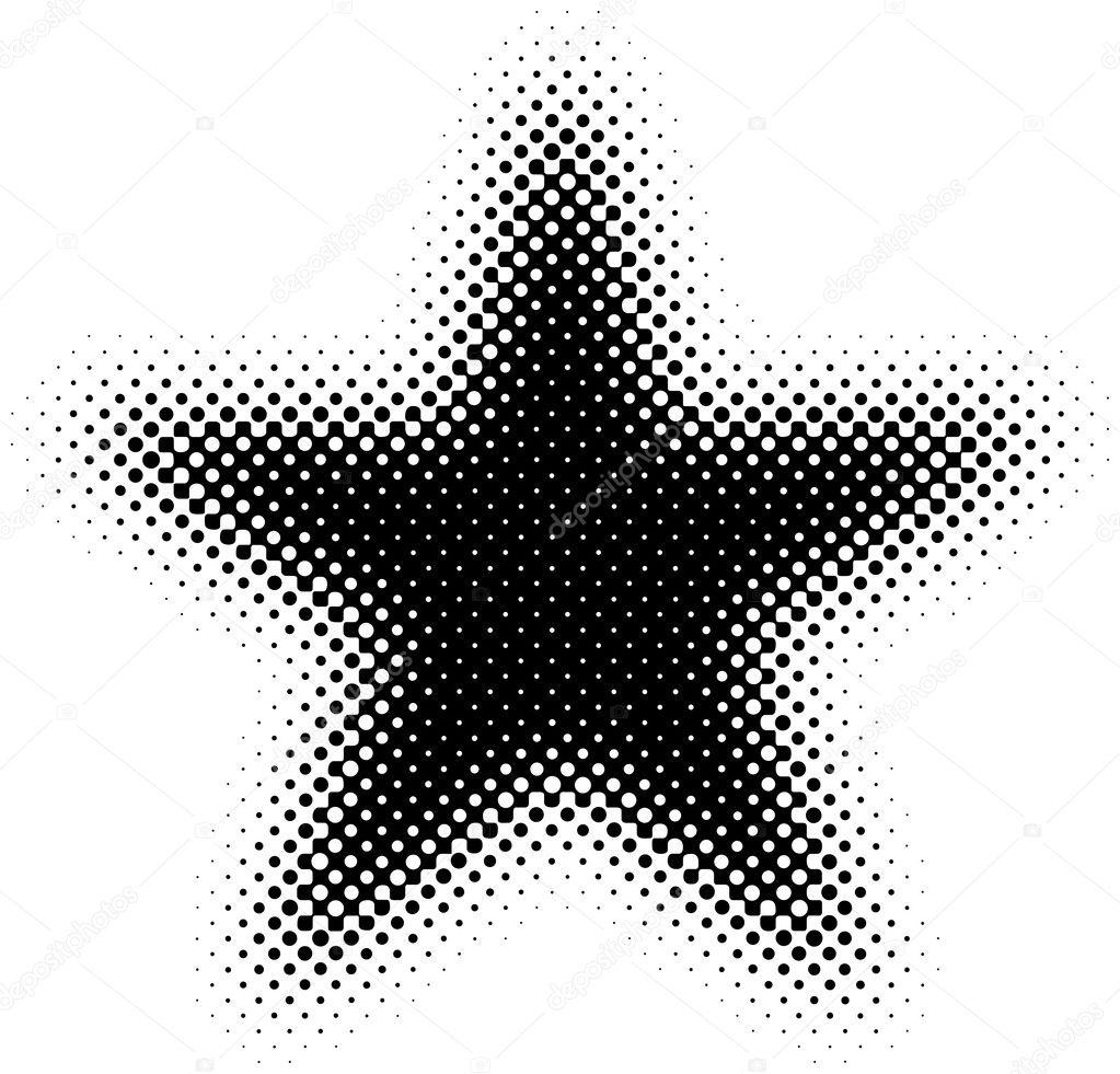 Halftone Star