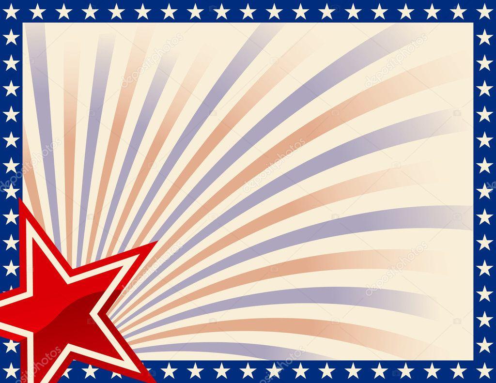 marco patriótico con estrellas — Vector de stock © adroach #8996548