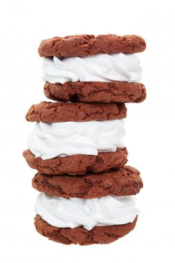 Chocolate Cream Filled Cookie Stack