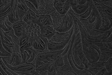 Black floral pattern stock vector