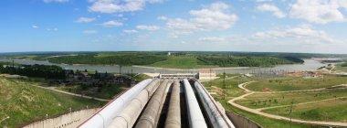Hydroelectric power plant horizontal