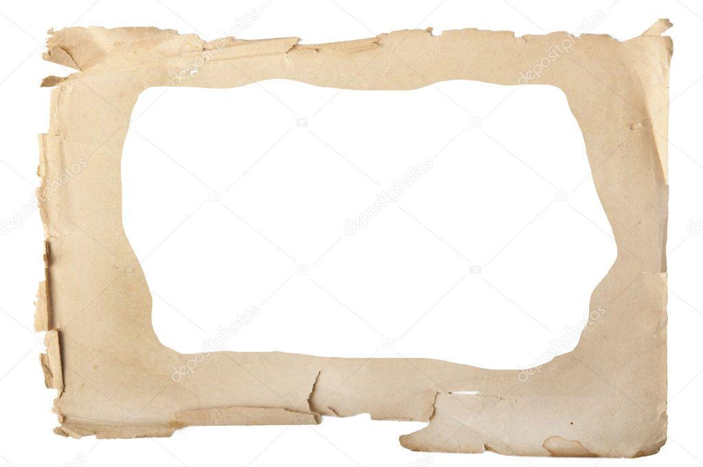 alte Papier-Fotorahmen — Stockfoto © Taddeus #10387999