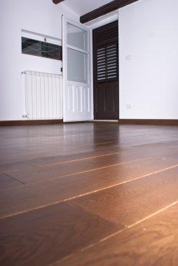 Room with hardwood floors