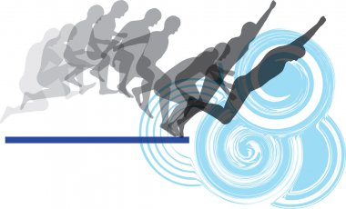 Jumping secuence. vector illustration