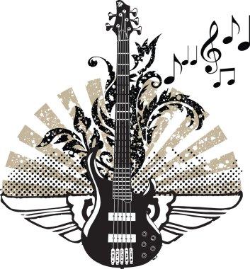 Electric guitar design. Vector illustration