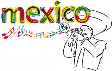 Mexican Mariachi. Vector illustration