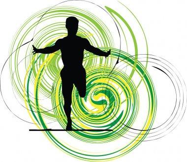 Running man, Vector illustration