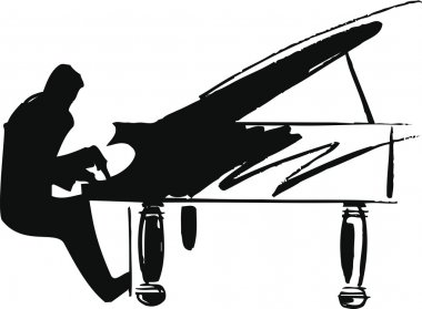 Illustration of musicians play classical music. vector illustration