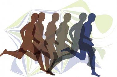 Running men illustration