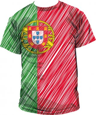 Portugal tee, vector illustration