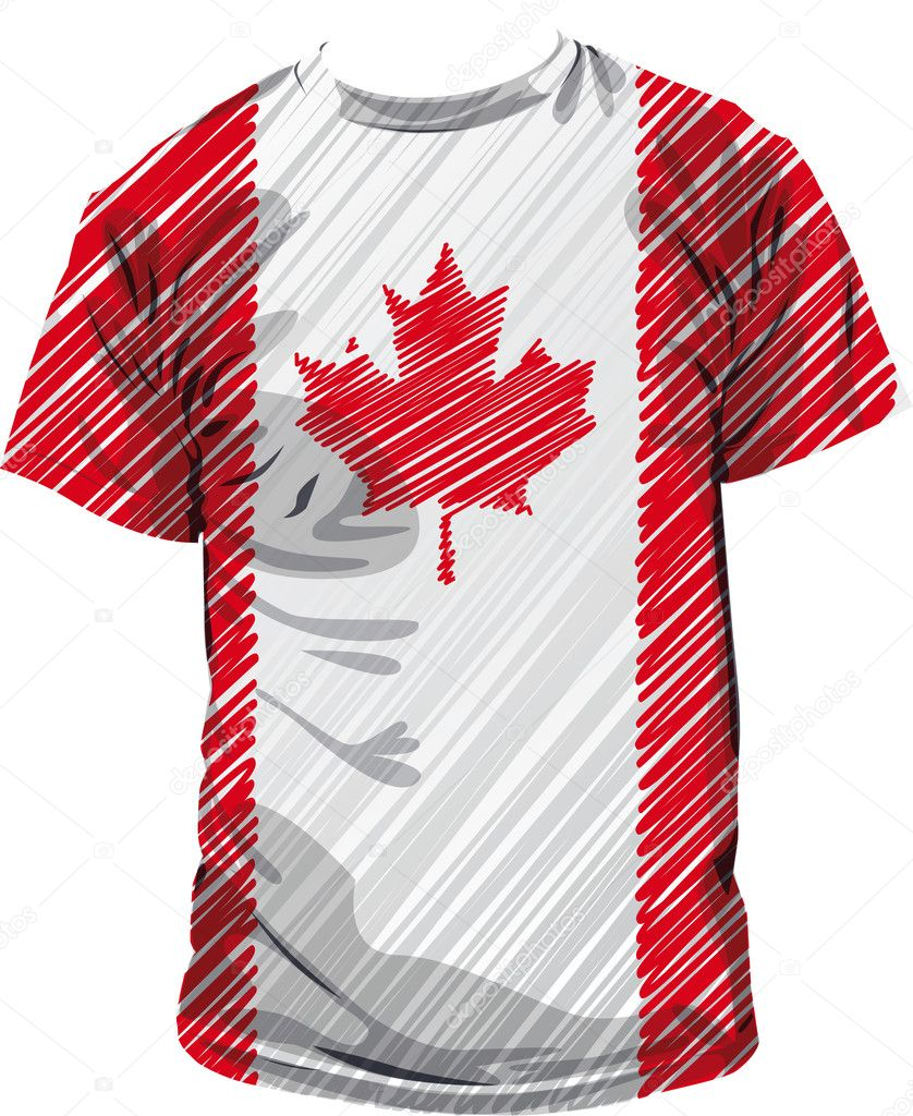 Canadian tee, vector illustration