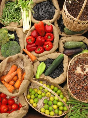 Assortment Organic food