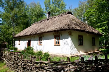 Ukrainian traditional hut