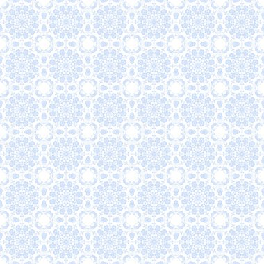 Seamless Pale Blue Kaleidoscope Mandala Background Wallpaper