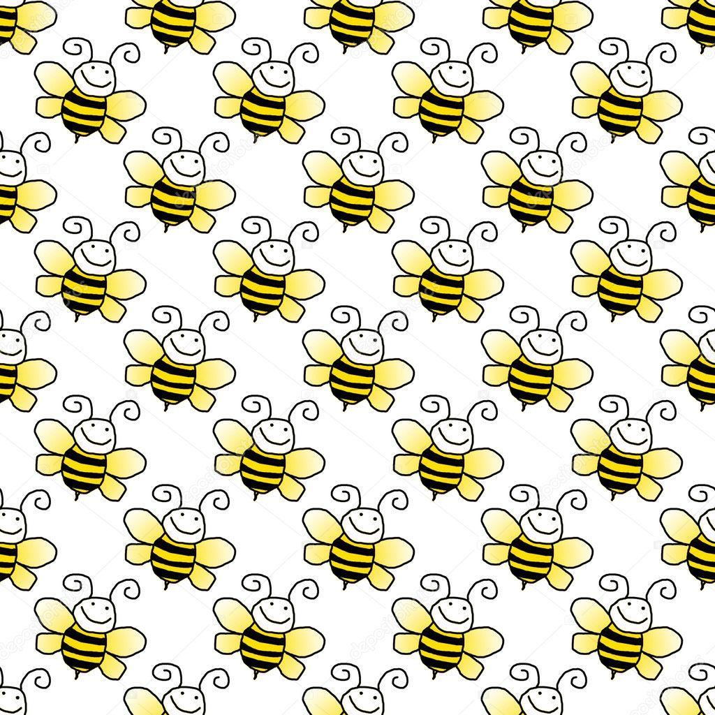 Black Bumble Bee >> Seamless Bumblebee Background Wallpaper — Stock Photo © SongPixels #8891103