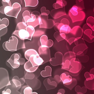 Pink & white hearts in various sizes with sharp and soft focus elements stock vector