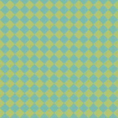 Seamless Aqua & Green Diamond Checked Background Wallpaper