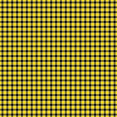 Bright yellow & black with a touch of white gingham style plaid stock vector