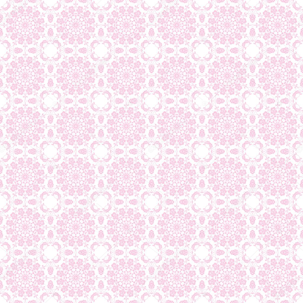 seamless pale pink kaleidoscope mandala background wallpaper — stock