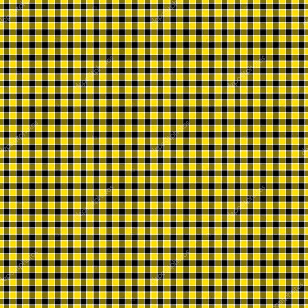 Black And Yellow Checkered Wallpaper Seamless Black