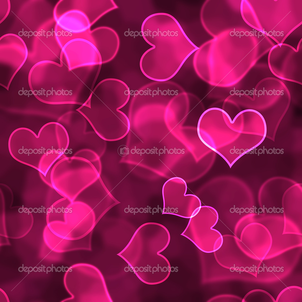 Hot Pink Heart Background Wallpaper — Stock Photo ...