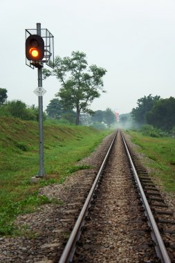 Railway track with Trafficlight