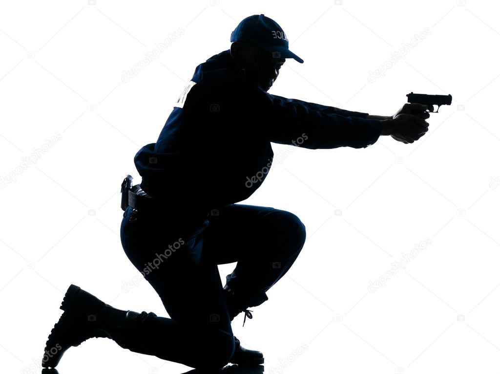 Police Officer Aiming Gun Stock Photo 169 Stylepics 8996890