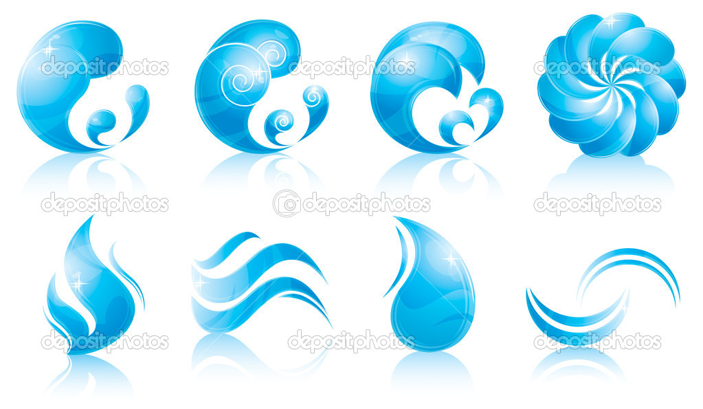Water & wave icon set
