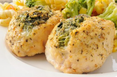 Chicken breasts stuffed with spinach florentine