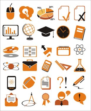 30 education icons vector illustration set