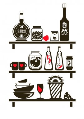 Kitchen Shelves Sticker
