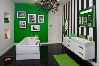 Showcase of bathroom interior