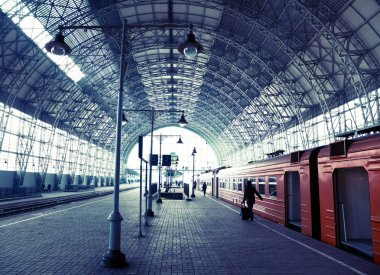 Covered railway station