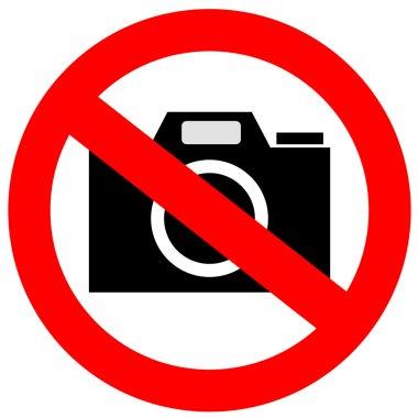 No photo camera sign