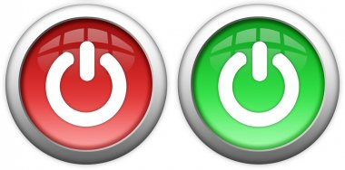 Turn on off buttons set stock vector