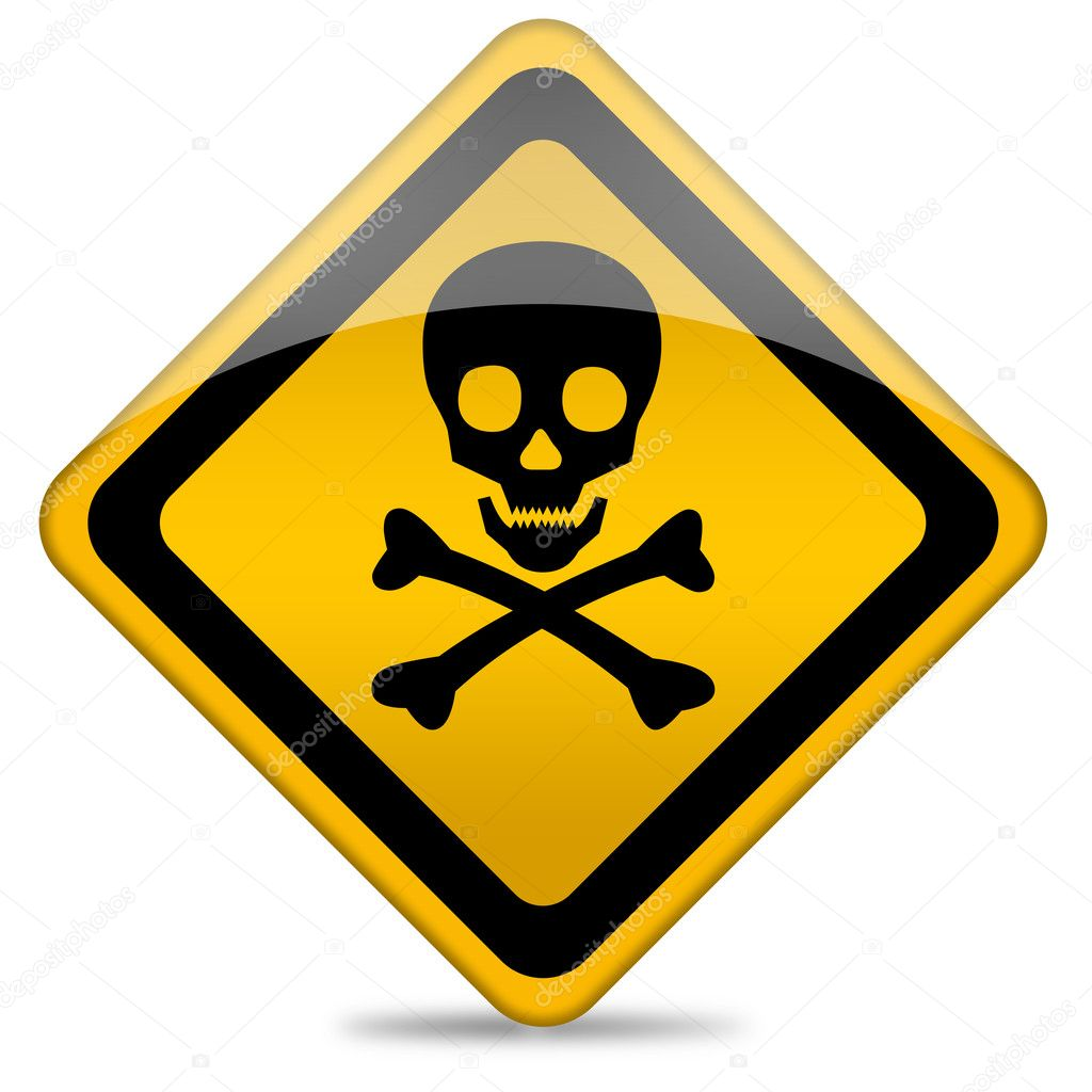 toxic sign and skulls - photo #10