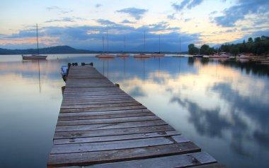 Lake mirrored