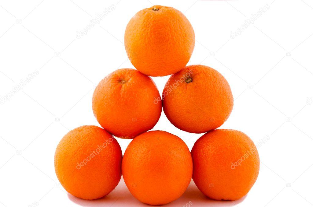Oranges pyramide