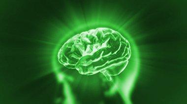 Brain green flare
