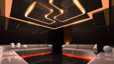 Orange electronic luxury room