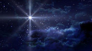 "Картина, постер, плакат, фотообои ""голубая звездная ночь "", артикул 9322470"